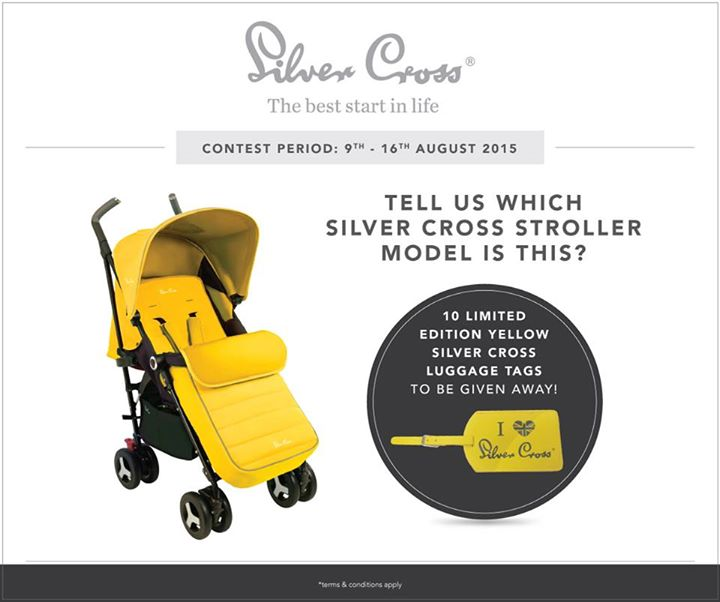 Win limited edition yellow Silver Cross luggage tags at Mothercare Malaysia