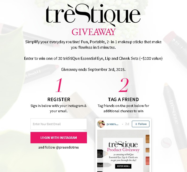 Win one of 30 trèStiQue Essential Eye, Lip and Cheek Sets at Lushli USA