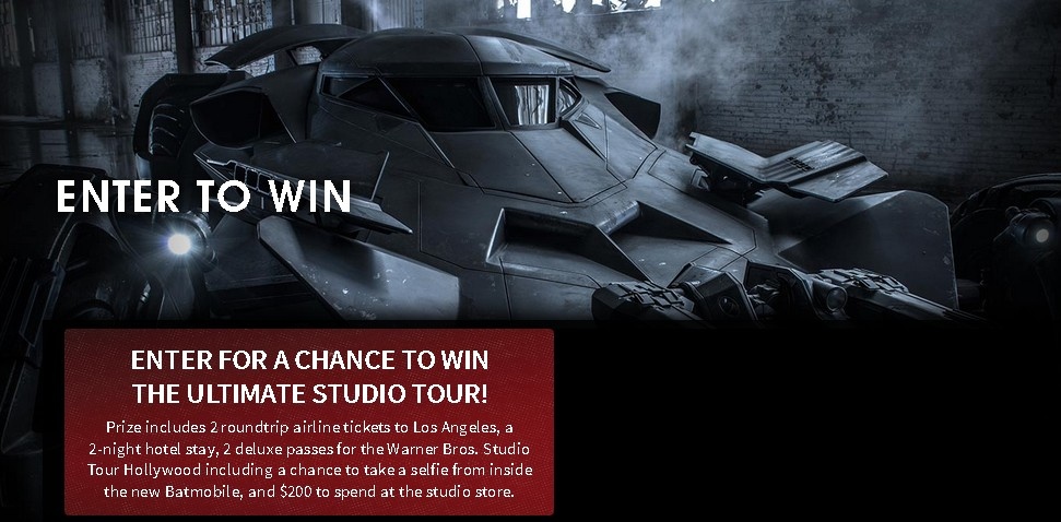ENTER FOR A CHANCE TO WIN THE ULTIMATE STUDIO TOUR!