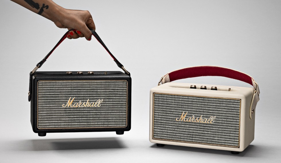 Engadget giveaway win a Kilburn portable speaker courtesy of Marshall