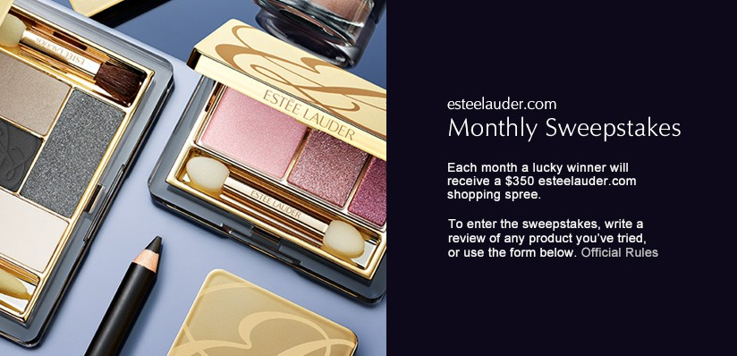 Estee Lauder USA Monthly Sweepstakes- Win $350