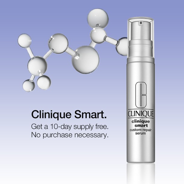 FREE 10-day supply of Clinique Smart Custom-Repair Serum at Clinique USA