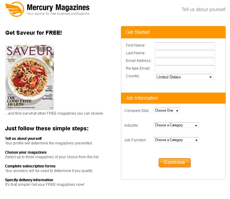 Free Saveur Magazine at Mercury Magazines 1