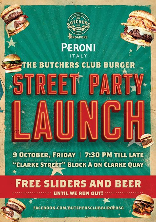Free flow of sliders and beer at The Butcher's Club Singapore