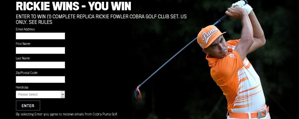 Rickie Wins - You Win Sweeps at Cobra USA