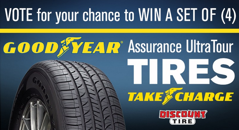 Win a set of (4) Goodyear Assurance Ultratour tires