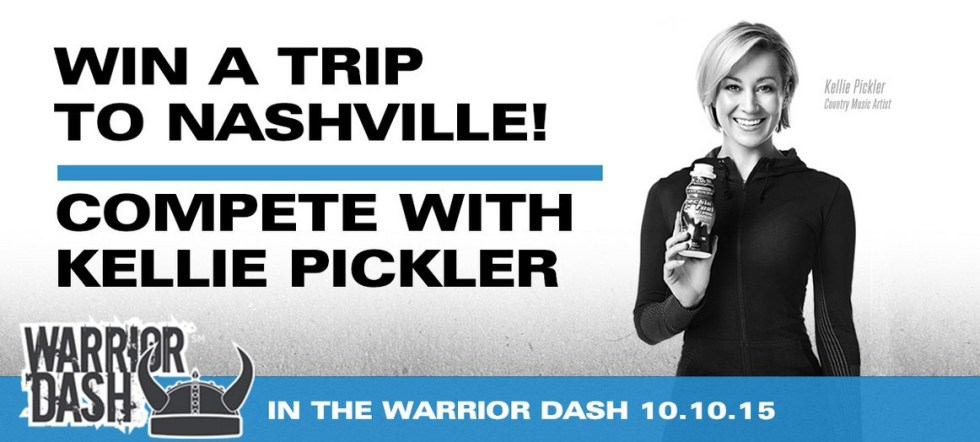 Win a trip to Nashville to compete with Kellie Pickler on her Warrior Dash race team