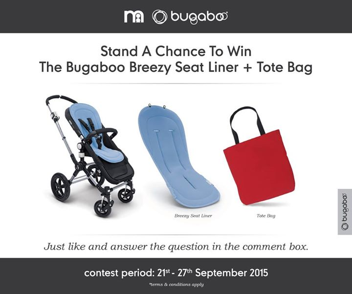 Win the all-new Bugaboo Breezy Seat Liner and tote bag at Mothercare Malaysia