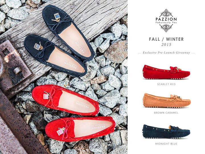 Win the latest FW'15 suede loafers at PAZZION Singapore