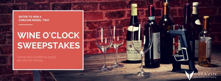 2015 CORAVIN WINE O'CLOCK Sweepstakes
