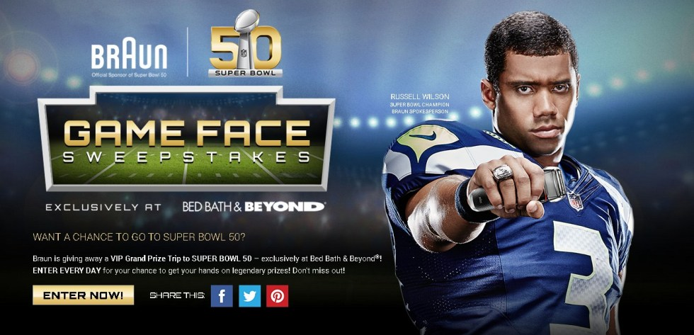 Braun Game Face Sweepstakes