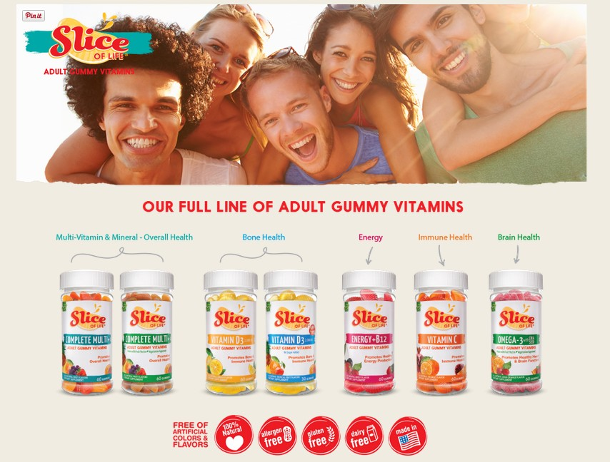 Claim Your Free Slice of Life® Adult Gummy Vitamins Samples