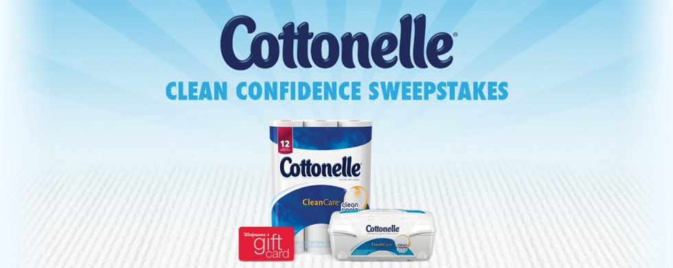 Enter below for a change to win 1 of 120 Cottonelle® Clean Confidence Kits