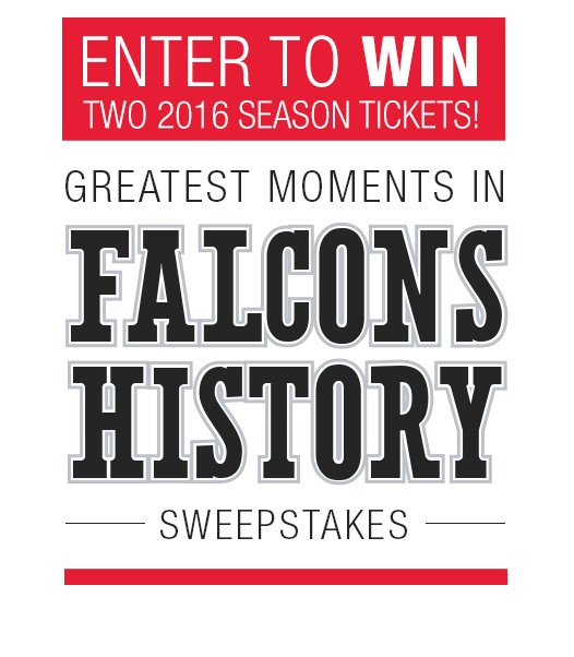 """Equifax Presents """"Greatest Moments in Falcons History Sweepstakes"""""""
