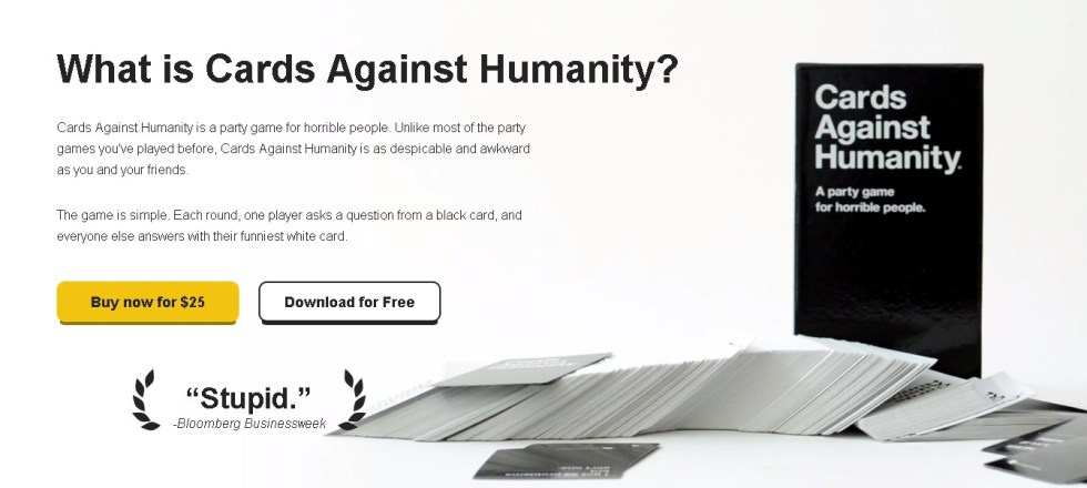 FREE Download Cards Against Humanity