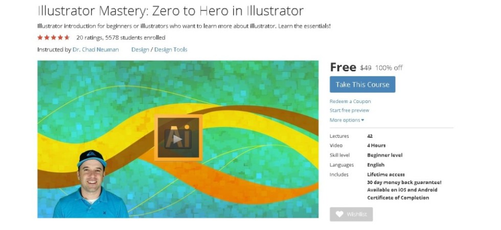 FREE Udemy Course on Illustrator Mastery Zero to Hero in Illustrator