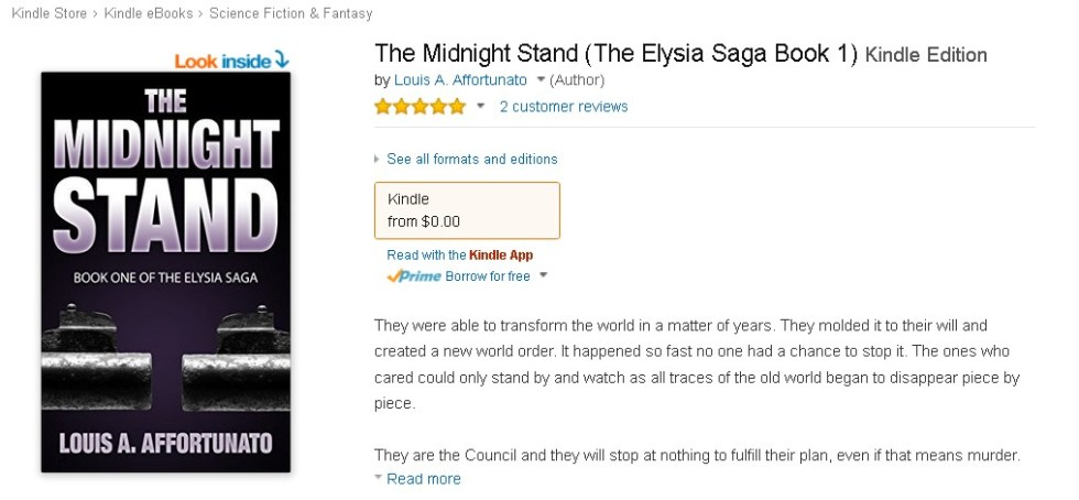 FREE eBook at Amazon The Midnight Stand (The Elysia Saga Book 1) Kindle Edition