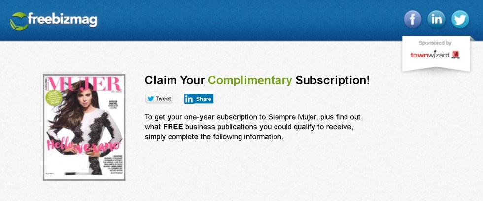 FREE one-year subscription to Siempre Mujer Magazine