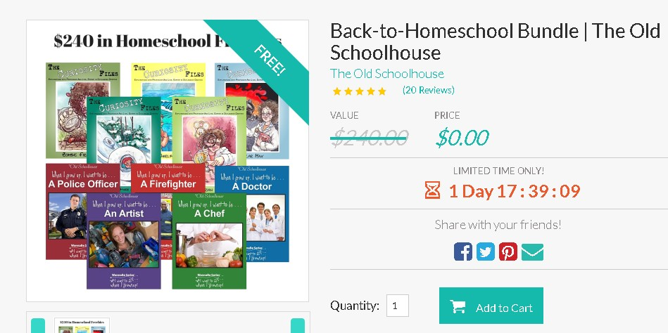 Free Back-to-Homeschool Bundle at The Old Schoolhouse