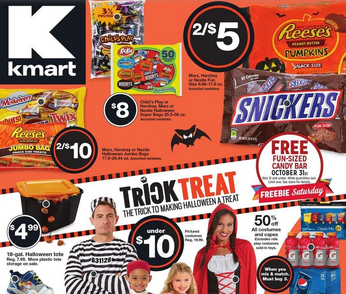 Free Fun-Sized Candy Bar at KMart USA