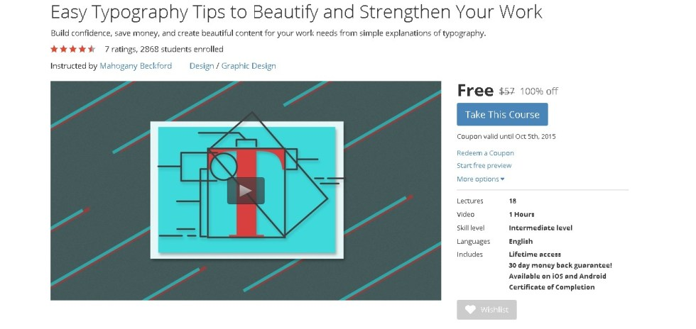 Free Udemy Course on Easy Typography Tips to Beautify and Strengthen Your Work