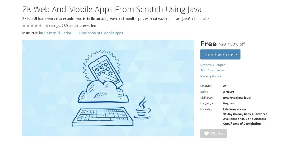 Free Udemy Course on ZK Web And Mobile Apps From Scratch Using Java