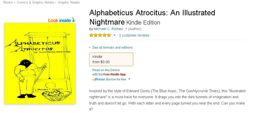 Free eBook at Amazon Alphabeticus Atrocitus An Illustrated Nightmare