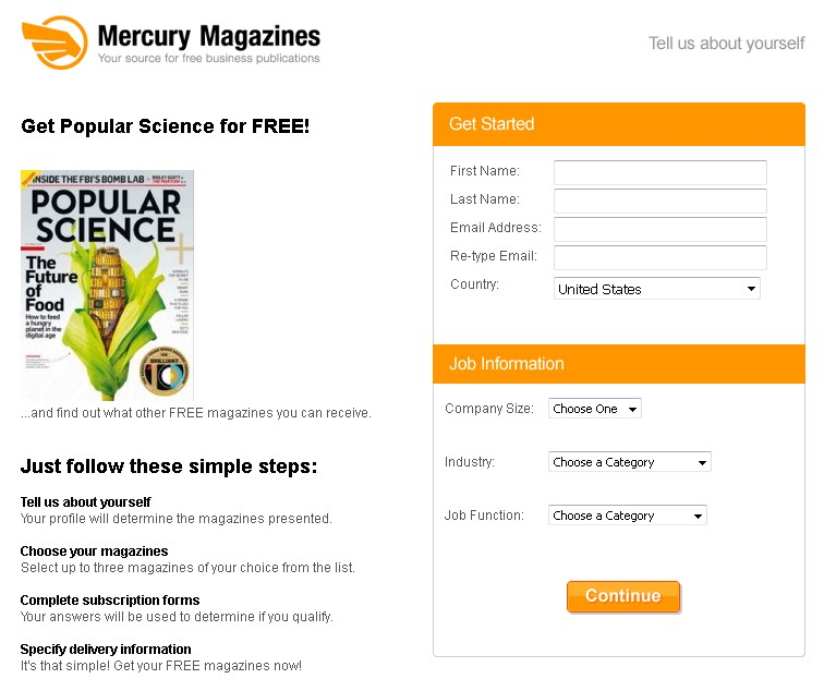 Get Popular Science Magazine for FREE