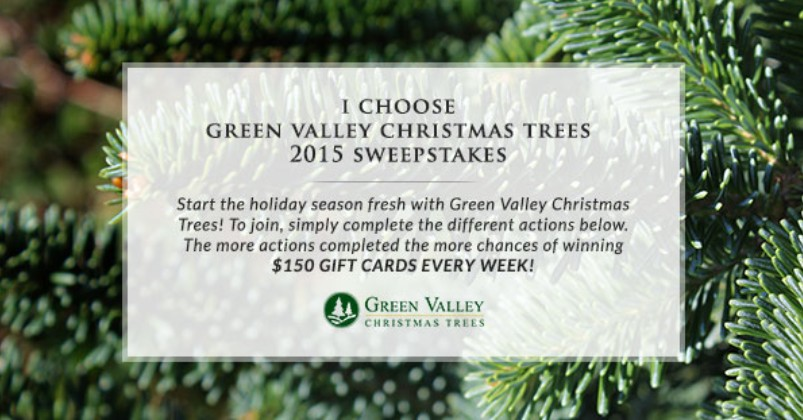 Green Valley Christmas Trees 2015 Sweepstakes