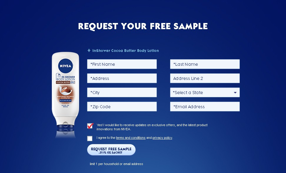 NIVEA In-Shower Cocoa Butter Body Lotion Sample