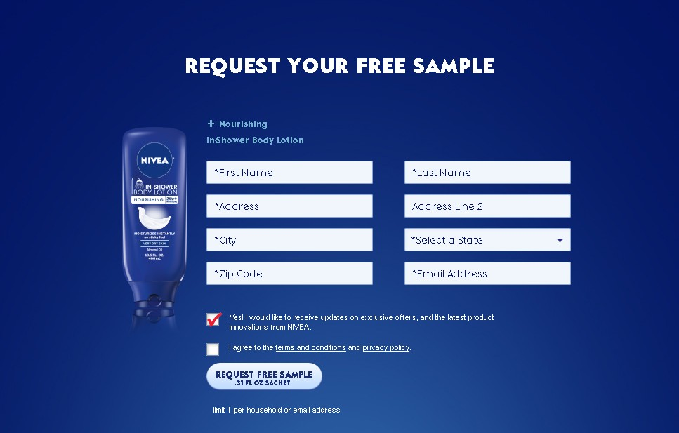 NIVEA Nourishing In-Shower Body Lotion Sample