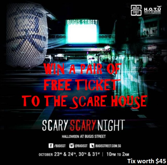 SHARE & TAG to win a pair of ticket To SCARE HOUSES at T.Cartel Singapore