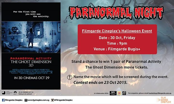 Stand a chance to win a pair of tickets to Filmgarde's Paranormal Night at Filmgarde Cineplex