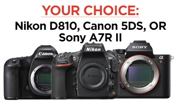 The Fro is giving away your choice of a Nikon D810, Canon 5Ds or Sony A7RII