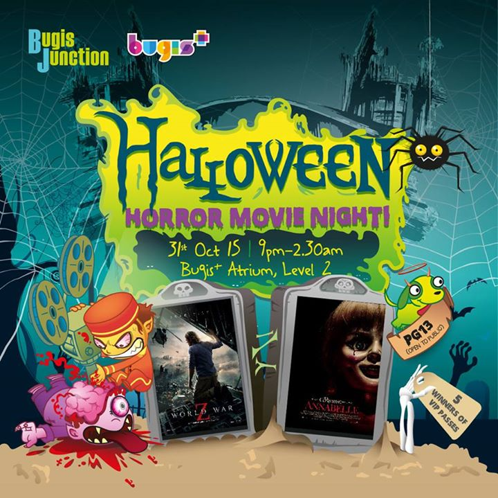 VIP pass winners to Halloween Horror Movie Night at Bugis Junction X Bugis+