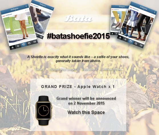 WIN Grand Prize Apple Watch at Bata Singapore