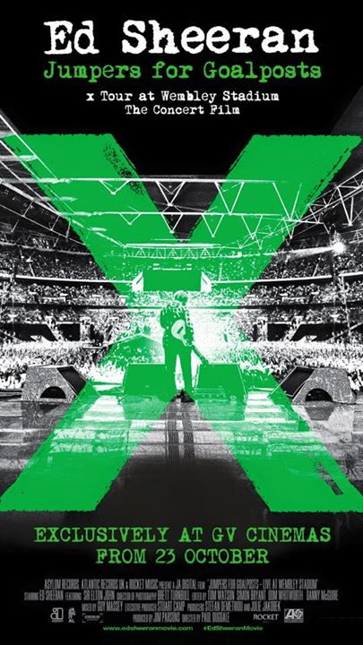 WIN tickets to catch the premiere of Ed Sheeran Jumpers For Goalposts x Tour at Wembley Stadium The Concert Film