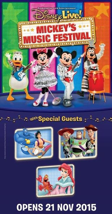"WIN tickets to the ""Disney Live! Mickey's Music Festival at United Square Shopping Mall- The Kids Learning Mall"