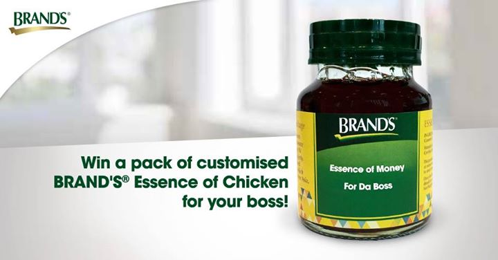 Win a pack of customised BRAND'S® Essence of Chicken for your boss!