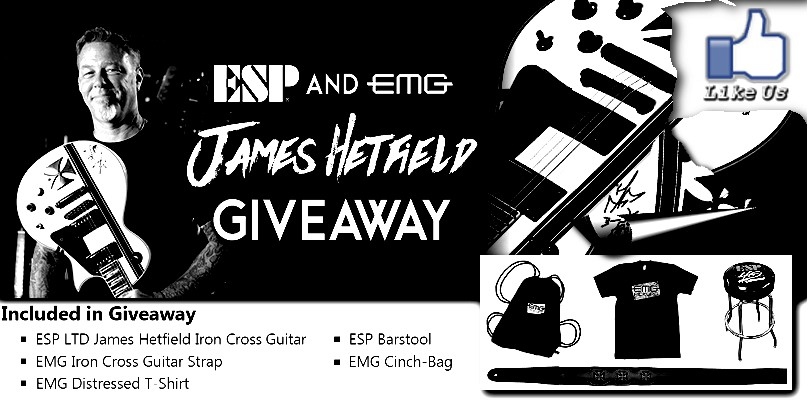 Win an ESP LTD James Hetfield Iron Cross guitar