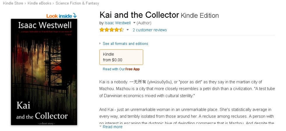 Free Amazon eBook Kai and the Collector Kindle Edition