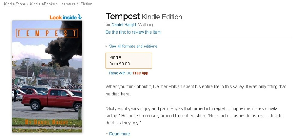 Free Amazon eBook Tempest Kindle Edition