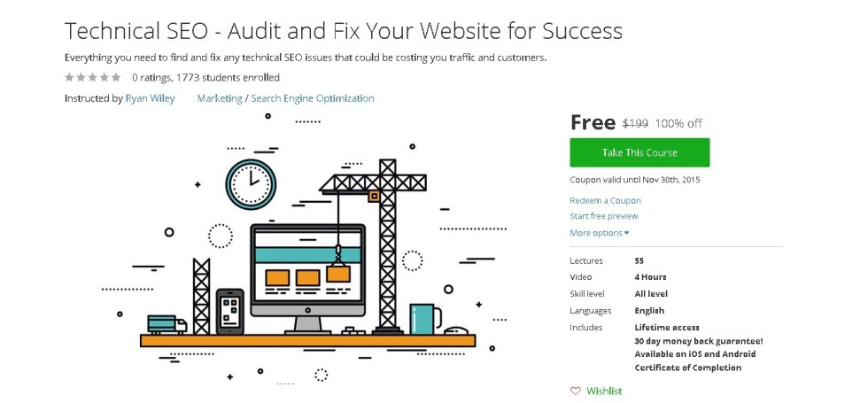 Free Udemy Course on Technical SEO - Audit and Fix Your Website for Success