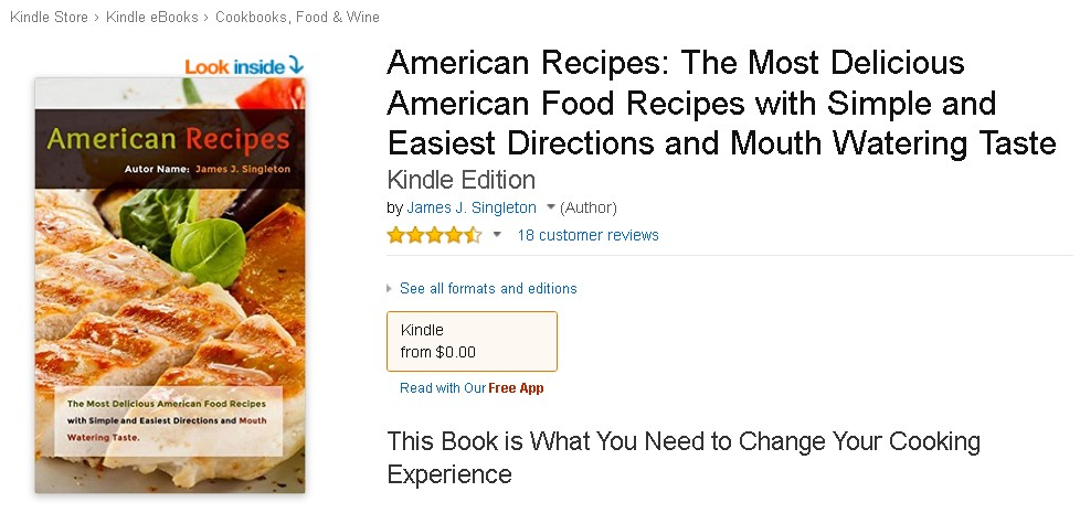 Free eBook at Amazon American Recipes The Most Delicious American Food Recipes with Simple and Easiest Directions and Mouth Watering Taste