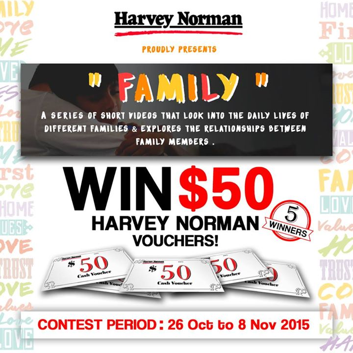 GIVING AWAY 5 X $50 HARVEY NORMAN VOUCHERS!