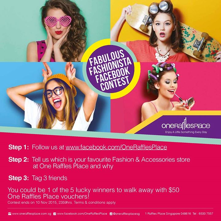One Raffles Place Fabulous Fashionista Contest