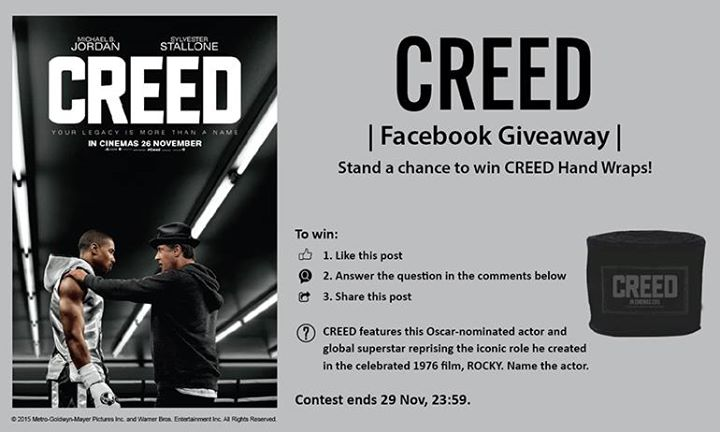 Stand a chance to win CREED hand wraps at Filmgarde Cineplex