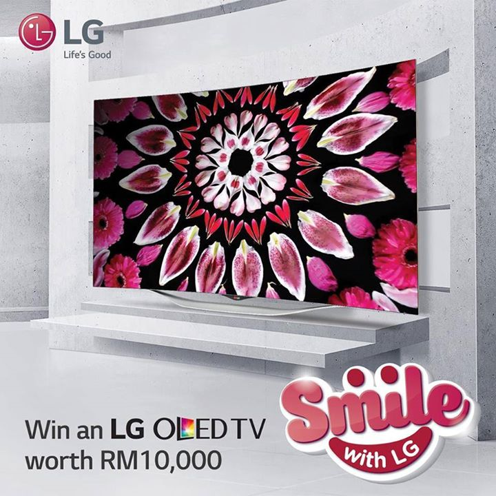 Take Part #SmilewithLG contest for a chance to win a stylish LG OLED TV worth RM10,000