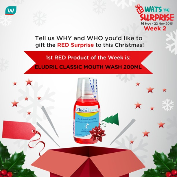 WIN RED Surprise and walk away with a $50 eVoucher for your personal Christmas at Watsons Singapore