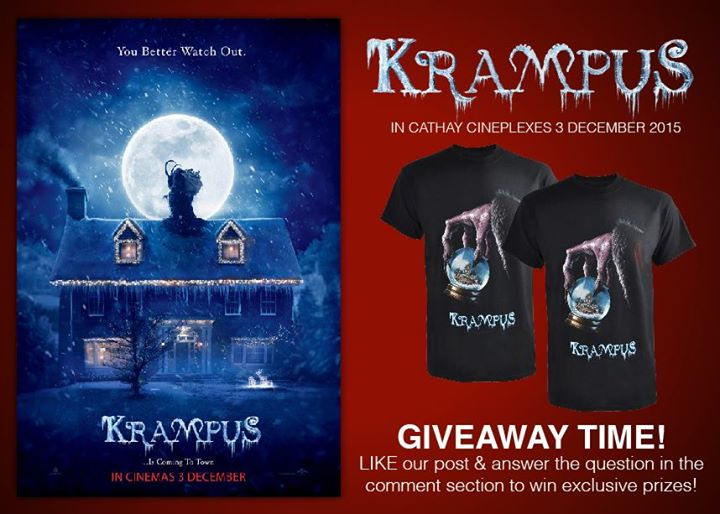 Win Krampus Movie Premiums at Cathay Cineplexes Sdn Bhd